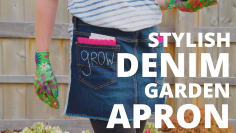 DIY Denim Garden Apron